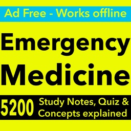 Emergency Medicine Exam Review App : 5200 Q&A