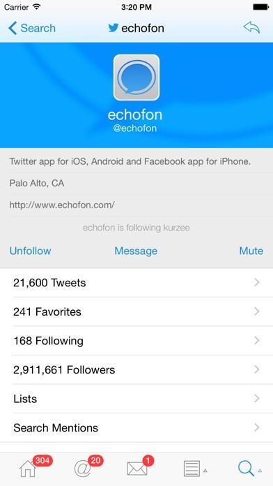 Echofon for Twitter Screenshot on iOS