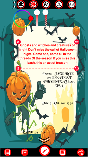 Halloween invitation cards maker on the app store halloween invitation cards maker on the app store stopboris Image collections