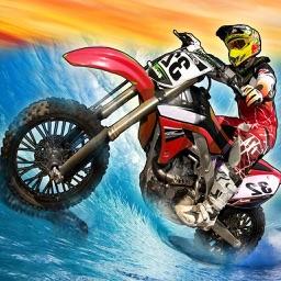 Surfing Dirt Bike - Dirt Bike Jetski Racing Games
