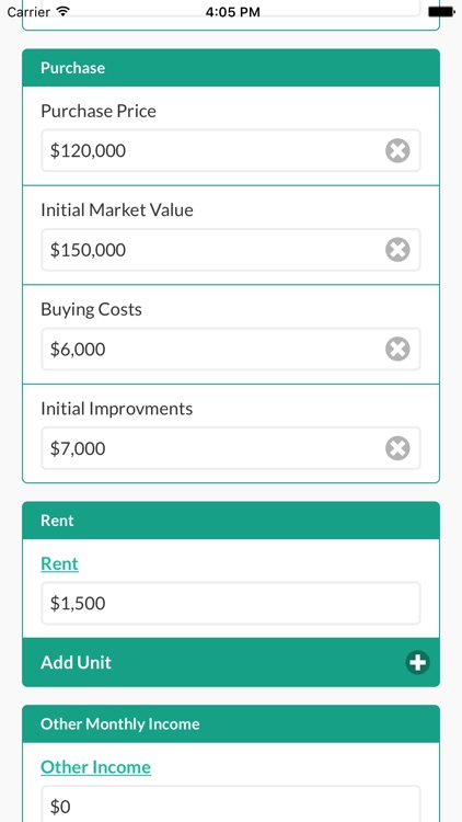Property Cashflow Calculator