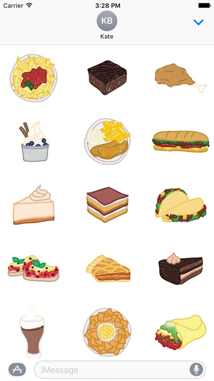 Food Sketch Stickers