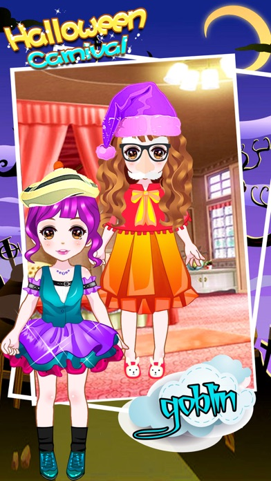 Halloween Carnival - Makeover Game for girls screenshot one
