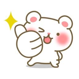 POM the white bear - StickerPack