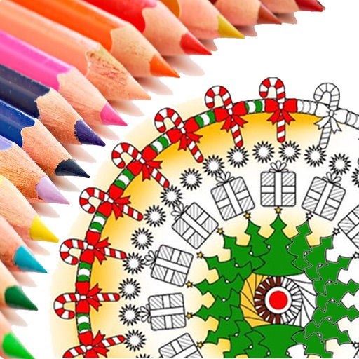 Christmas Mandala Coloring Book for kids & adults