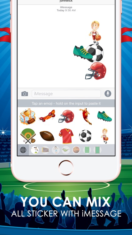 Sports Emoji Stickers Keyboard Themes ChatStick