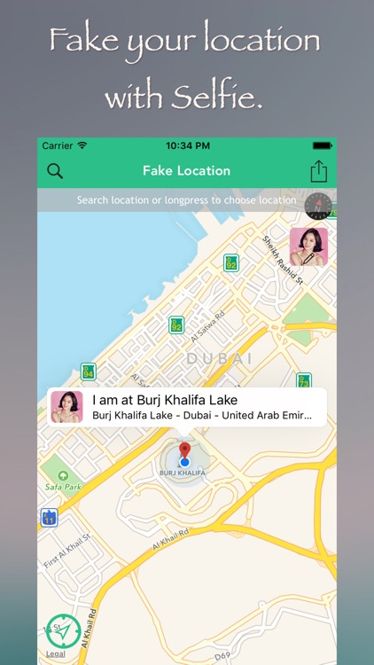 Fake Location for GPS Spoofer with Selfie