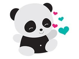 Naive Panda Sticker