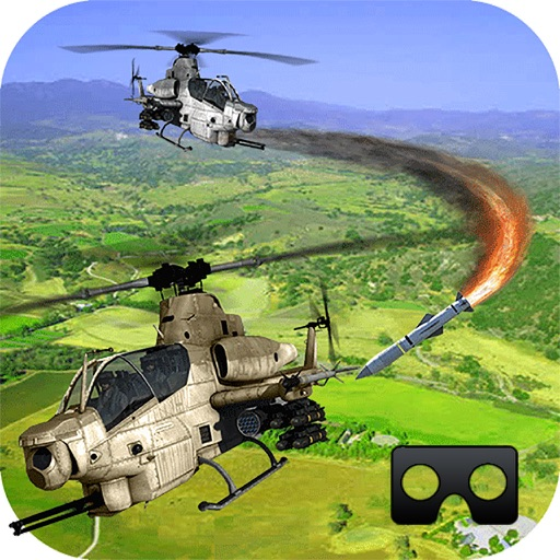VR Cobra Gunship Helicopter : 3D hell Battle Field