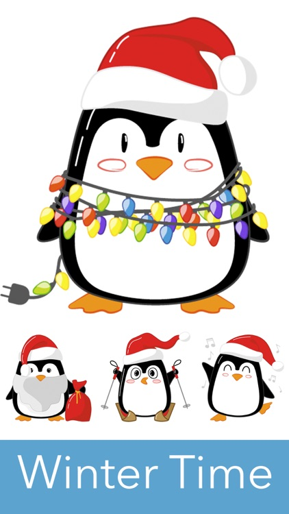 Christmas Penguins 2017 - fun stickers