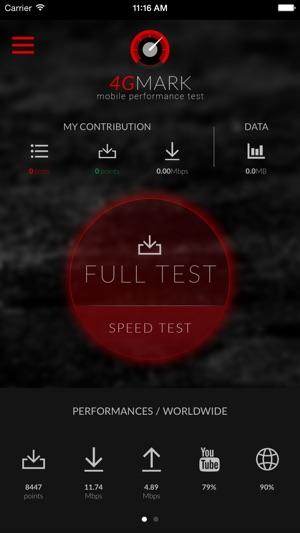 4gmark test de d233bit 3g 4g dans l�app store