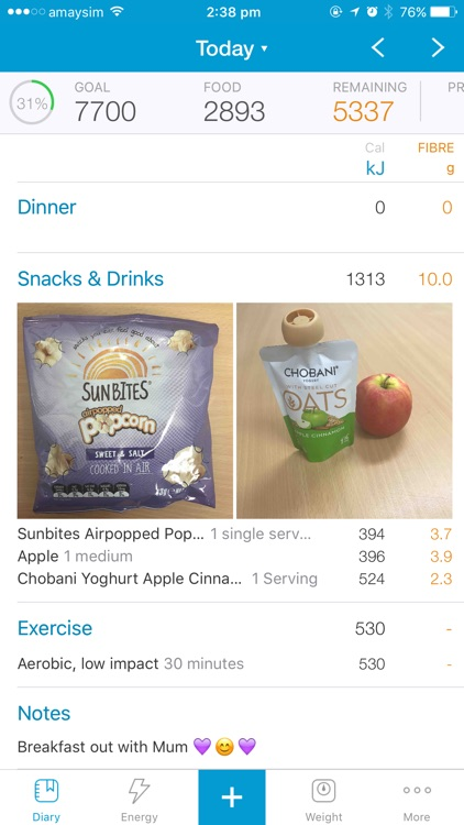 Australian Calorie Counter - Easy Diet Diary screenshot-0