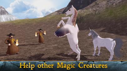 Flying Pegasus: Magic Horse Simulator 3D screenshot two