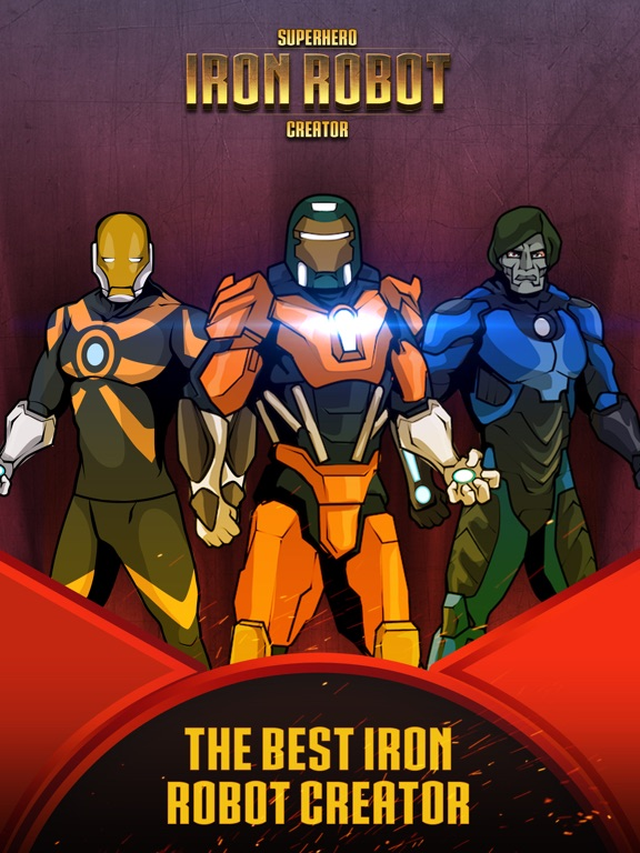 Superhero Iron Robot Creator for Avengers Iron-Man на iPad