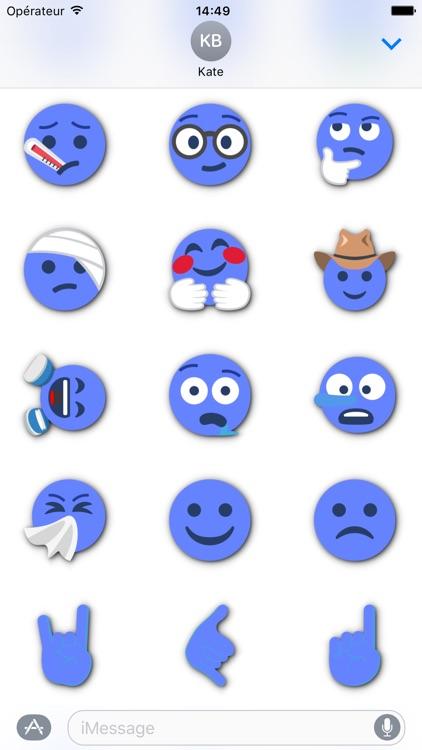 BLUE Emoji • Stickers for iMessage screenshot-4