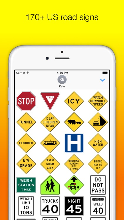 US Road Signs for iMessage