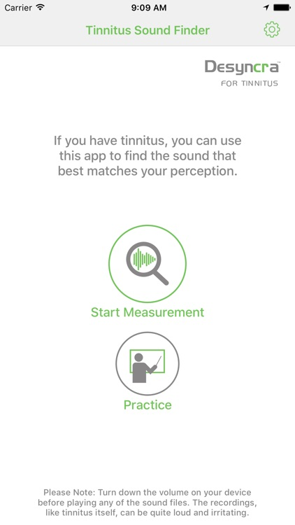 Tinnitus Sound Finder