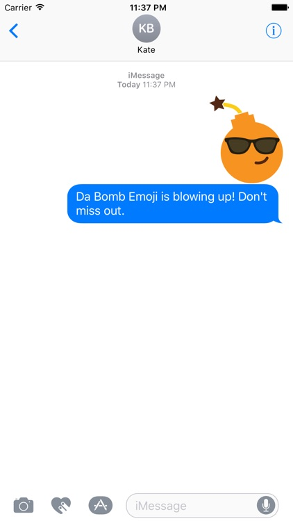 BombMoji Stickers Free for iMessage