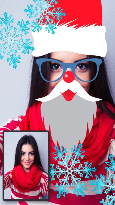 Navidad Snap filtros  – fotoeditor caras navideñasCaptura de pantalla de1
