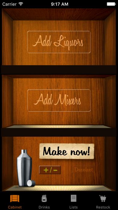 Liquor Cabinet review screenshots