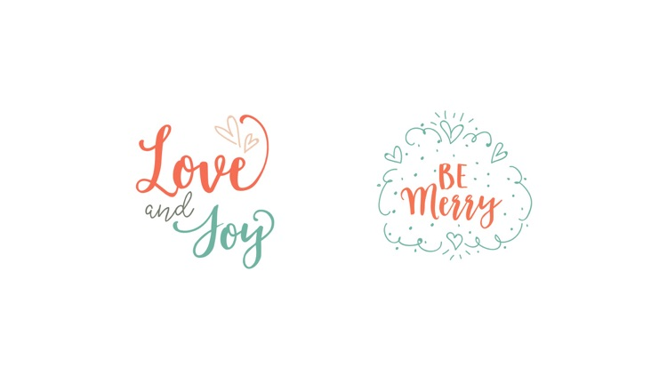 Merry Christmas Lettering Stickers screenshot-3