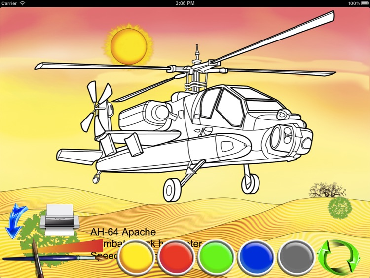 Helicopters - coloring book screenshot-3