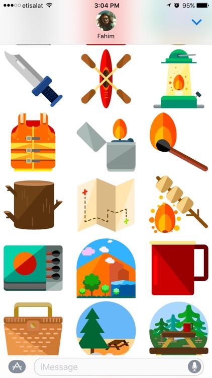 Camping Stickers screenshot-3