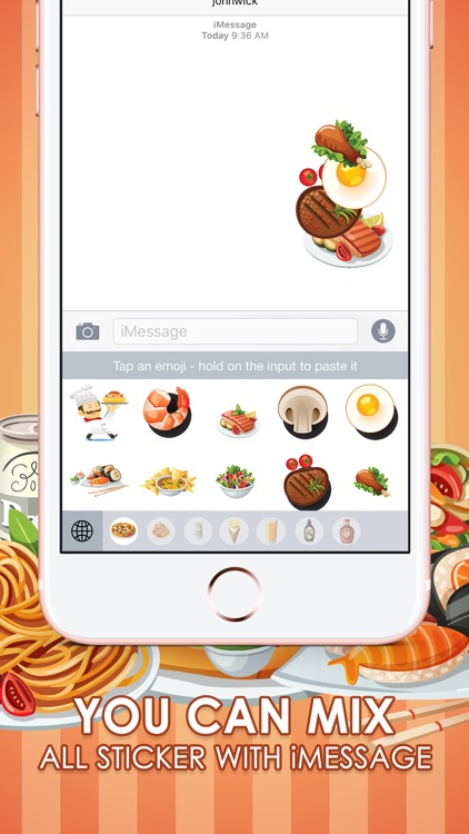 Food & Drink Emoji Photo Stickers Themes ChatStick