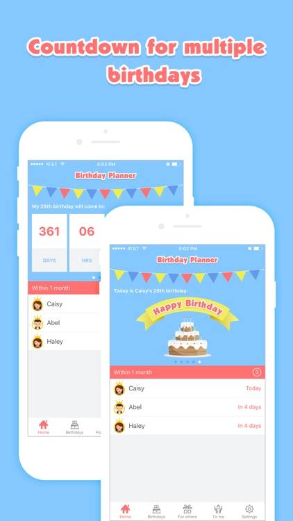 Birthday Planner - Event Countdown & Gifts List