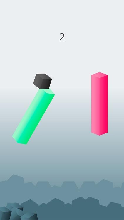 Cubism. Jumps - Jumping on Pillars Endless Arcade Hopper