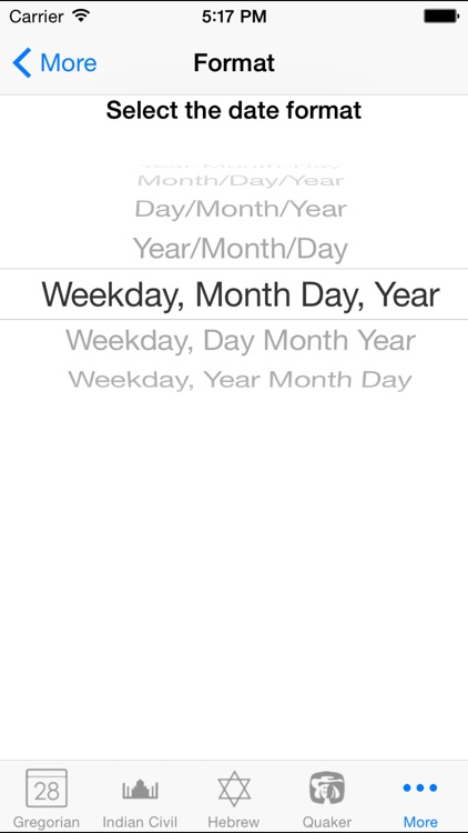 Calendar Converter By Vertical Horizon