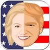 フェイスマージ楽しい - ヒラリーVSトランプ顔ジャグラーアプリ