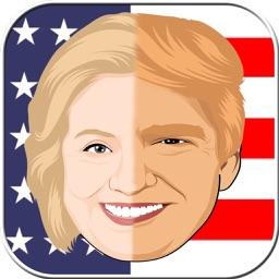 Face Merge Fun - Hillary VS Trump Face Juggler App