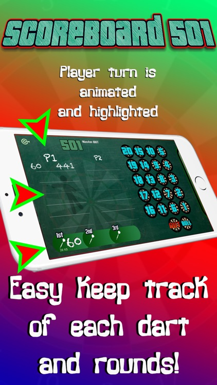 Darts Scorekeeper 501 x01 screenshot-1
