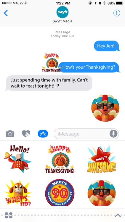 Macy's Thanksgiving Day Parade Stickers Pack