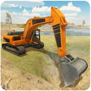 重型挖掘机模拟器 - 三维工程起重机操作员与沙运输卡车司机模拟器游戏