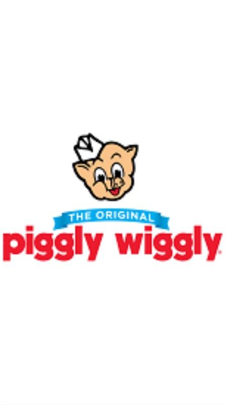 Piggly Wiggly Black and White Logo Vector   designlogovector.com