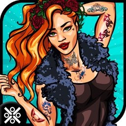 Santa Tattoo Designer Girl - Design & Artist Game