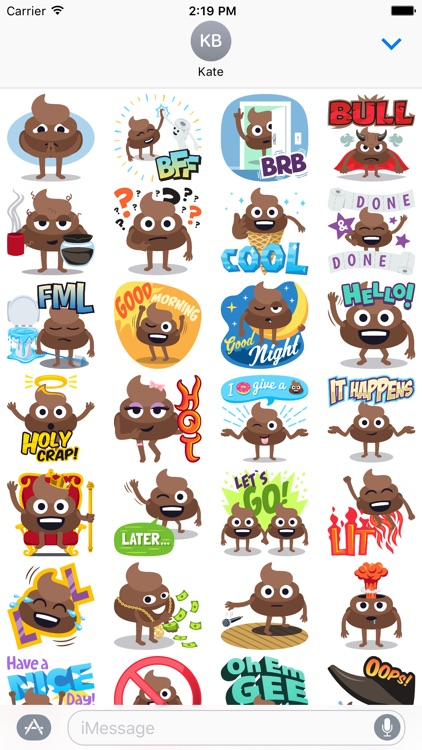 Happy Poo: Stickers by EmojiOne screenshot-3