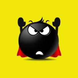 Black Emoji Sticker Pack for iMessage