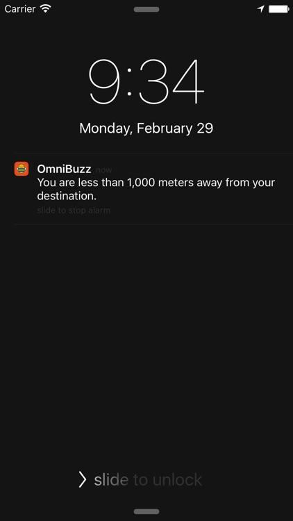 OmniBuzz - GPS Alarm for Transit screenshot-3