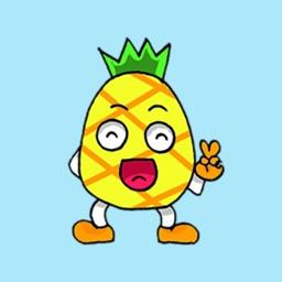 Devil Pine - Cutest pineapple stickers