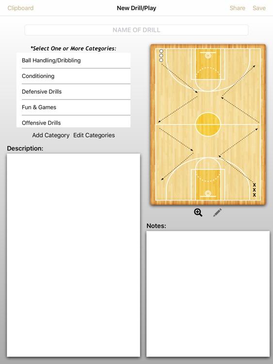 Basketball ClipPad
