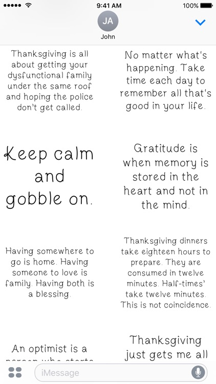 Thanksgiving Quotes - A to Z Stickers screenshot-3