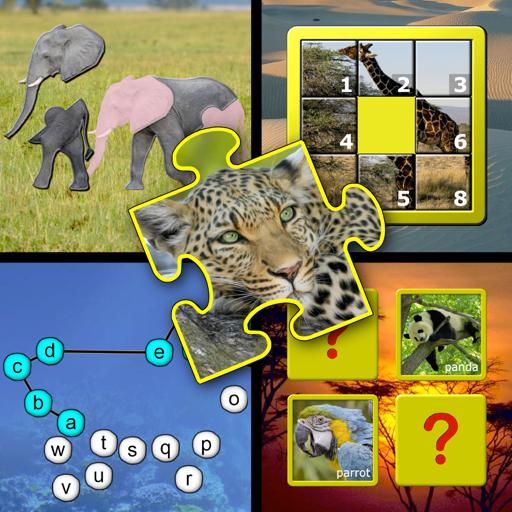 Дети животное головоломки и навык игры памяти