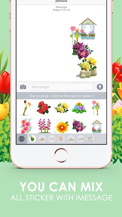 Flower Emoji Stickers Keyboard Themes ChatStick