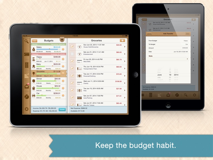 Money Monitor for iPad - Budget & Bill Management