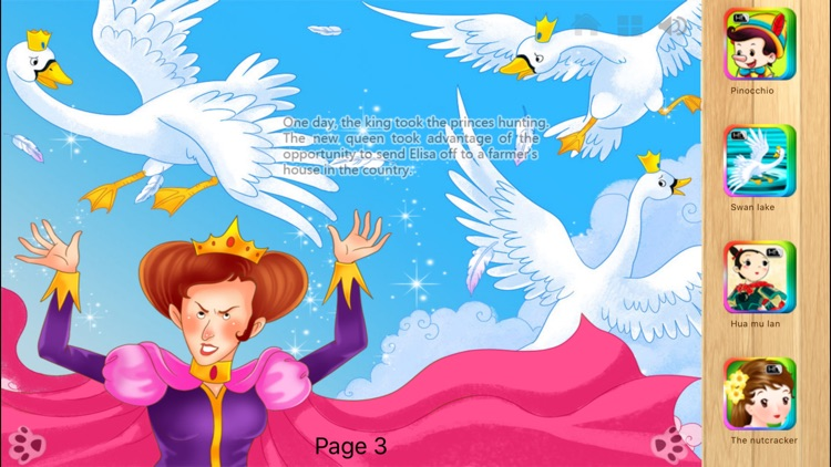 The Wild Swans Bedtime Fairy Tale iBigToy screenshot-4