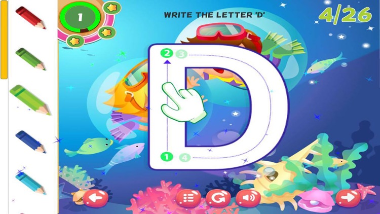 ABC Tracing Alphabet Learning Writing Letters screenshot-3