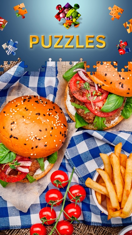 Food Jigsaw Puzzles for Adults. Premium